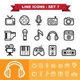 Line icons set 7. Illustration eps 10 Stock Photos