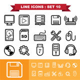 Line icons set 10 Stock Images