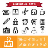 Line icons set 9 Royalty Free Stock Photography