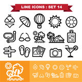 Line icons set 14 Royalty Free Stock Photos