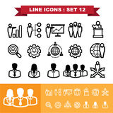 Line icons set 12 Royalty Free Stock Photography