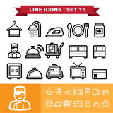 Line icons set 15 Royalty Free Stock Images