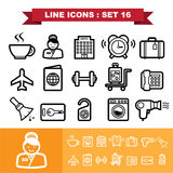 Line icons set 16 Stock Photo