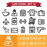 Line icons set 16 Stock Photo