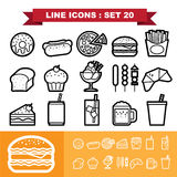 Line icons set 20 Royalty Free Stock Photo