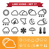 Line icons set 3 Royalty Free Stock Photography