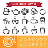 Line icons set 19 Royalty Free Stock Photos