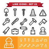Line icons set 21 Royalty Free Stock Image