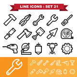 Line icons set 21 Royalty Free Stock Photos