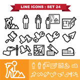 Line icons set 24 Stock Images