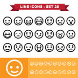 Line icons set 28 Stock Photography