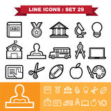 Line icons set 29 Royalty Free Stock Photo