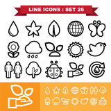 Line icons set 26 Royalty Free Stock Photo