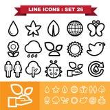 Line icons set 26 Royalty Free Stock Photo