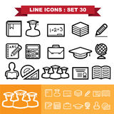 Line icons set 30 Royalty Free Stock Photo