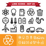 Line icons set 25 Stock Image
