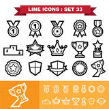 Line icons set 33 Royalty Free Stock Photos