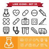 Line icons set 35 Royalty Free Stock Photo