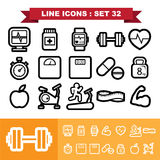 Line icons set 32 Royalty Free Stock Photo