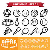 Line icons set 31 Stock Image