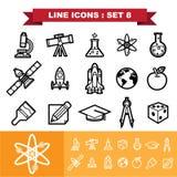 Line icons set 8 Stock Photo