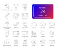 Line icons set. Internet pack. Vector illustration Royalty Free Stock Images