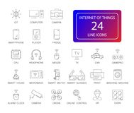 Line icons set. Internet of Things pack. Vector illustration stock illustration