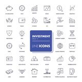 Line icons set. Investment Stock Images