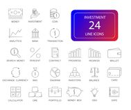 Line icons set. Investment pack. Vector illustration Stock Photo