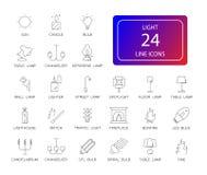 Line icons set. Light pack. stock illustration