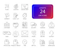 Line icons set. Logistic pack. Vector illustration Royalty Free Stock Photography