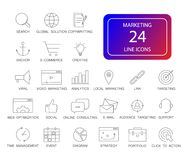 Line icons set. Marketing pack. Vector illustration Royalty Free Stock Photography