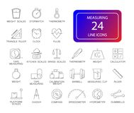 Line icons set. Measuring pack. Vector illustration Stock Images