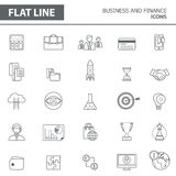 Line icons Royalty Free Stock Image