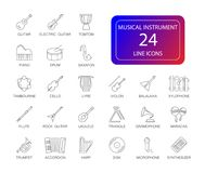 Line icons set. Musical instrument pack. Vector illustration Royalty Free Stock Photography