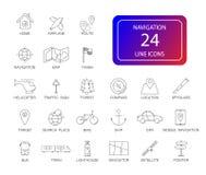 Line icons set. Navigation pack. Vector illustration vector illustration