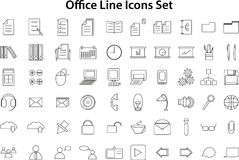 Line Icons Set Royalty Free Stock Images