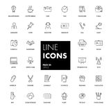 Line icons set. Office. Stock Image