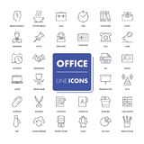 Line icons set. Office. Stock Images