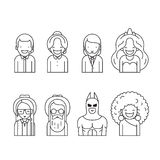 Line icons set. People. Stock Photography