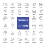Line icons set. Post service Royalty Free Stock Photography