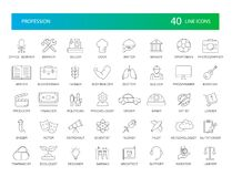 Line icons set. Proffesion pack. Royalty Free Stock Images