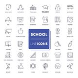 Line icons set. School pack. Royalty Free Stock Photography