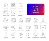 Line icons set. Security pack. Vector illustration Stock Photography