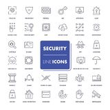 Line icons set. Security. Pack. Vector illustration Royalty Free Stock Photo