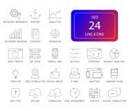 Line icons set. Seo pack. Vector illustration vector illustration