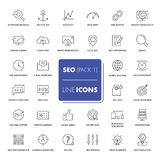 Line icons set. SEO Royalty Free Stock Images