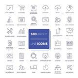 Line icons set. SEO Royalty Free Stock Image