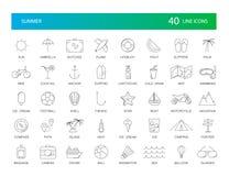 Line icons set. Summer pack. Vector illustration vector illustration