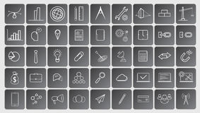 Line  icons Royalty Free Stock Photography
